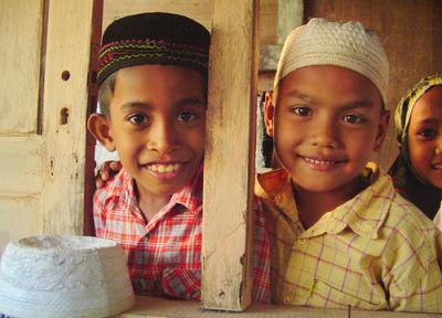Les enfants en Indonésie